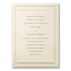 A Royal Frame NB CC BS 6166 Invitation
