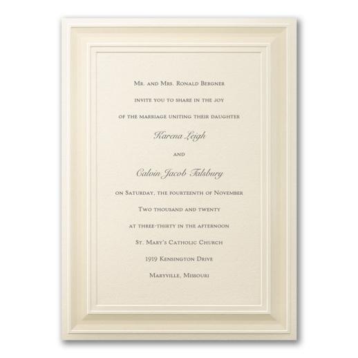 A Royal Frame NB CC BS 6166 Invitation