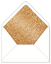 Glitter Copper Envelope Liner
