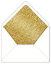 Glitter Gold Envelope Liner