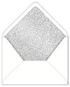 Glitter Silver Envelope Liner